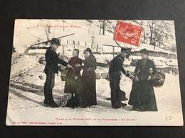 CPA 1900/1920 Vosges Visite à La Douane Près De La Frontière En Hiver - France