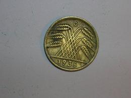 ALEMANIA 10 REICHSPFENNIG 1936 D (1322) - [ 4] 1933-1945 : Tercer Reich