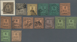 Italien - Altitalienische Staaten: Romagna: 1859, Used And Mint Selection Of 15 Stamps, Slightly Var - Romagne