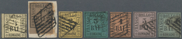 Italien - Altitalienische Staaten: Romagna: 1859, Used Collection Of Seven Stamps: ½b., 1b., 2b., 3b - Romagne