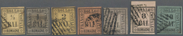 Italien - Altitalienische Staaten: Romagna: 1859, Used Collection Of Seven Stamps: ½b., 1b., 2b., 4b - Romagne