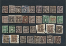 "Italien - Altitalienische Staaten: Toscana: 1860, 3rd Issue ""Coat Of Arms"", Specialised Assortment O - Toscane"