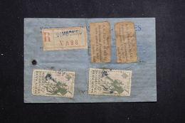 A.O.F. - Étiquette De Colis Postal En Recommandé De Dimbokro , étiquettes D'autorisation D'Exportation De 1947 - L 61377 - Lettres & Documents