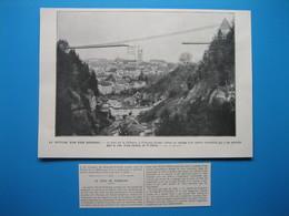 FRIBOURG (Suisse) - Rupture Du Pont Suspendu Sur Le Gotteron - Old Paper