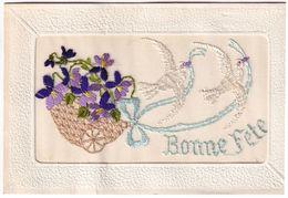 Carte Brodée Bonne Fête - Bestickt