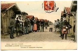 ANDERNOS-les-BAINS - Cabanes Et Parqueurs D'huitres - Belle Carte Colorisée - Rare - Voir Scan - Andernos-les-Bains