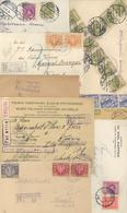 Polen - Stempel: 1921/35 39 Einschreibebriefe Meist M. Prov.R-Stempeln Und Vielen Verschiedenen Fran - Machine Stamps (ATM)