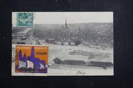 FRANCE - Vignette Du Millénaire Normand Sur Carte Postale De Rouen En 1911 - L 61381 - Cartas