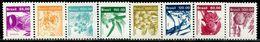 AZ3651 Brazil 1981 Crops Wheat Ears And Other 8V MNH - Plants