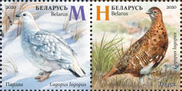 Belarus 2020 Fauna Seasonal Variations Hare Weasel Partridge Bird Birds Mammals 6v MNH - Bielorrusia