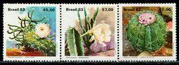 AZ3653 Brazil 1983 Prickly Pear Flower 3 Etc. MNH - Plants