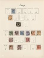 Skandinavien: 1855/1965: Sweden/Denmark Collection In Borek Binder, Predominantly Used, A Few Mint A - Otros - Europa