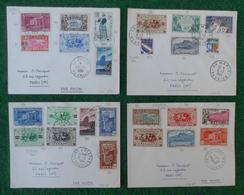 """Quatre Enveloppes """"Poste Aérienne"""" - Année 1964 - Pièces Marcophiles Expédiées De La Réunion Vers La Métropole - Marcophilie (Lettres)"""