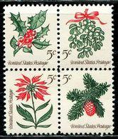 AZ3663 United States 1964 Christmas Plant 4 All-engraving Edition MNH - Plants