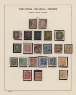 Preußen - Marken Und Briefe: 1850 - 1870, Überkomplette, Spezialisierte Sammlung Im Schaubek-Vordruc - Preussen