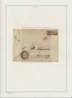 Preußen - Marken Und Briefe: 1851/67, Sehr Schöne Gestempelte Sammlung Ab Nr. 1 (9 Lose Marken + GA- - Preussen