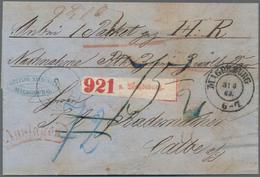Preußen - Marken Und Briefe: 1855/1867, Partie Von 22 (meist Markenlosen) Belegen, Dabei Paketbeglei - Preussen