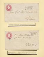 Preußen - Ganzsachen: 1851/1862 (ca.), Sammlung Von 48 Ganzsachenumschlägen, Vorwiegend Gebraucht Bz - Preussen