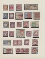 Preußen - Ortsstempel: 1860/1875, Saubere Stempel-Sammlung Incl. Zahlreichen Nachverwendungen Auf Ca - Preussen