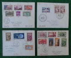 """Quatre Enveloppes """"Poste Aérienne"""" - Année 1963 - Pièces Marcophiles Expédiées De La Réunion Vers La Métropole - Marcophilie (Lettres)"""