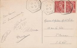 """OBLIT. COTES ET NORD (au Lieu """"DU"""")  S/ CP - 1921-1960: Moderne"""