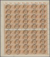 Deutsch-Neuguinea: 1897, 25 Pfg. Gelblichorange, Originalbogen Zu 100 Werten Mit Zwischenstegen, Kla - Colonie: Nouvelle Guinée