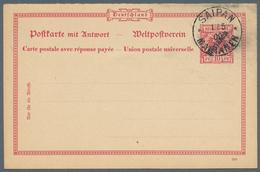 """Deutsche Kolonien - Marianen - Ganzsachen: 1899, 35x 10 Pf Fragekarten Mit Blanco-Stempel """"SAIPAN 1/ - Colonie: Mariannes"""