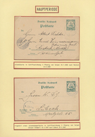 Deutsche Kolonien - Marianen - Ganzsachen: 1900/1908, Partie Von Acht Gebrauchten Ganzsachen, Dabei - Colonie: Mariannes