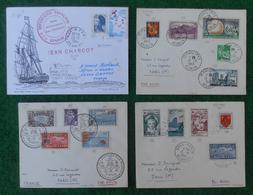 Quatre Documents Marcophiles - Années 1963 Et 1984 - Enveloppes Expédiées De La Réunion à Destination De La Métropole - Marcophilie (Lettres)