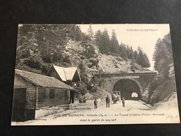 CPA 1900/1920 Bussang Le Tunnel Les Douaniers Et Attelage - Bussang