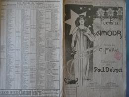 Partition Ancienne L'étoile D'amour Fallot Paul Delmet Anna Thibaud Armand Segaud Illustrateur Laurence Deschamps Diva - Partitions Musicales Anciennes