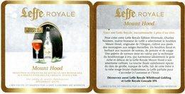 Leffe Royale. Edition Hivernale. Mount Hood. Sélection Supérieure De Houblon Des Montagnes Aux Neiges éternelles. - Sous-bocks