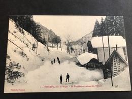 CPA 1900/1920 Bussang Sous La Neige La Frontière En Sortant Du Tunnel - Bussang