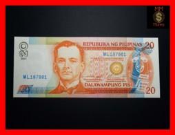PHILIPPINES 20 Piso 2001 P. 182 G  Blue Serial  UNC - Filippijnen