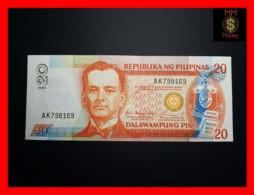 PHILIPPINES 20 Piso 2005 P. 182 J  Black Serial  UNC - Filipinas