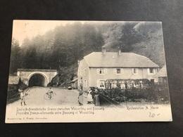 CPA 1900/1920 Frontière Franco-allemande Entre Bussang Et Wesserling Timbre Allemand - Bussang