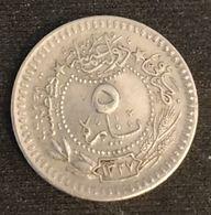 "TURQUIE - TURKEY - 5 PARA 1911 ( 1327 ) - KM 759 - Mehmet V - ""Reshat"" à Droite De Toughra - Empire Ottoman - Turquie"