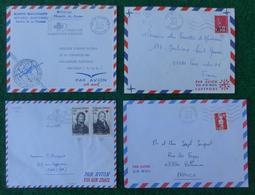 """Quatre Enveloppes """"Poste Aérienne"""" - Années Diverses - Pièces Marcophiles Expédiées De La Réunion Vers La Métropole - Marcophilie (Lettres)"""