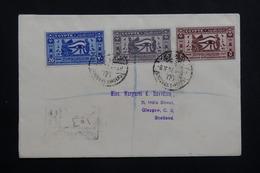 EGYPTE - Enveloppe En Recommandé En 1937 Pour Glasgow, Affranchissement Plaisant , à Voir - L 61398 - Lettres & Documents