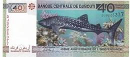 40 FRANCS 2017 - Djibouti