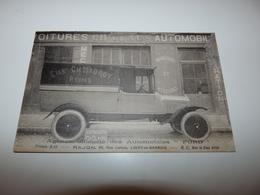 LIGNY EN BARROIS MEUSE VOITURE PUBLICITAIRE ANCIENNE ETAB. CH. MAUROY REIMS GARAGE AUTOMOBILE - Ligny En Barrois