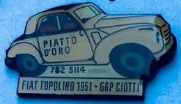 FIAT TOPOLINO 1951 - G & P CIOTTI - PIATTA D'ORO - ITALIE - ITALIA - VOITURE - CAR - AUTOMOBILE  AUTO - MACCHINA - (25) - Fiat
