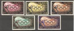 Yemen (YAR)  - 1960 Olympics MNH **  SG 126-30 - Yemen