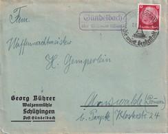 ALLEMAGNE 1939 LETTRE DE GÜNDELBACH ÜBER MÜHLACKER - Covers & Documents