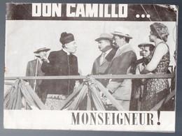 Mourenx / Plaquette à L'italienne DON CAMILLO  MONSEIGNEUR (Fernandel) (M0135) - Programs