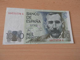 Bank Of Spanien 1.000 Pesetas 1979 - [ 4] 1975-… : Juan Carlos I