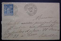 Rochecorbon 1898 (Indre Et Loire ) Petite Lettre Pour Tours - 1877-1920: Periodo Semi Moderno