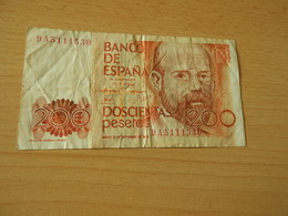Bank Of Spanien 200 Pesetas 1980 - [ 4] 1975-… : Juan Carlos I