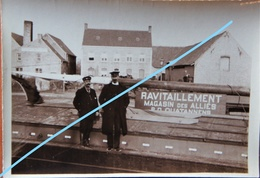 Photo ADINKERKE De Panne 1915 Huizen Ravitaillement Magasinn Des Alliés 1914-18 ABL Belgische Leger WO1 Guerre - Lieux