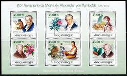 AZ3711 Mozambique 2009 Humboldt And Plants, Flowers, Monkeys, Etc.S/S MNH - Plants